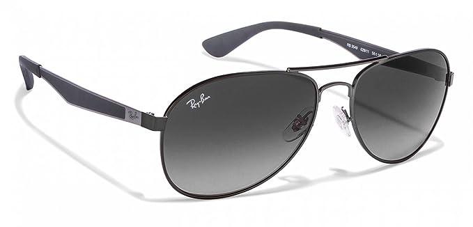 65470f616b1e Amazon.com  Ray-Ban RB3549 Mens Grey Metal Sunglasses. Color 029 11 ...