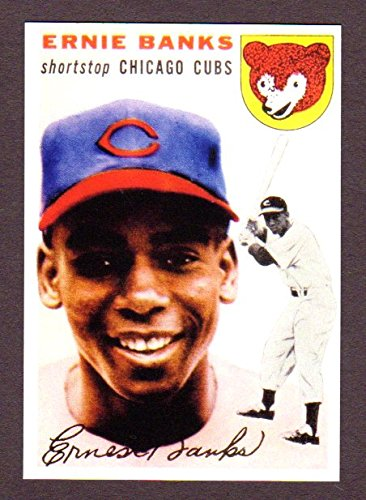 Ernie Banks 1954 Topps Baseball Reprint Rookie Card (Chicago)