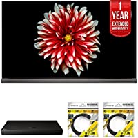 LG 65 OLED TV 4K HDR Smart TV 2017 Model (OLED65G7P) with LG 4K Ultra-HD Blu-ray Player with Multi HDR, 1 Year Extended Warranty & 2x General Brand 6ft High Speed HDMI Cable