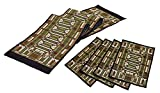 Frank Lloyd Wright Oak Park Skylight Tapestry Table Runner & 4 Placemats Set
