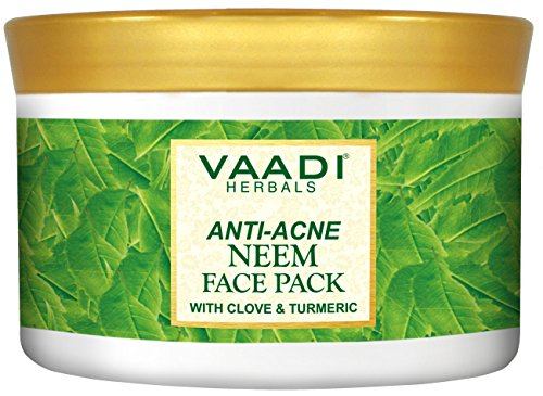 Vaadi Herbals Anti-Acne Neem Face Pack With Clove & Turmeric Herbal Face Pack All Natural Sulfate Free Suitable For All Skin Types 600 Gms (21.16 Ounces) (Neem Powder Acne)
