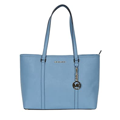 2d3a9784437c Michael Kors Large SADY Carryall Shopper Tote Shoulder Handbag Pale Blue