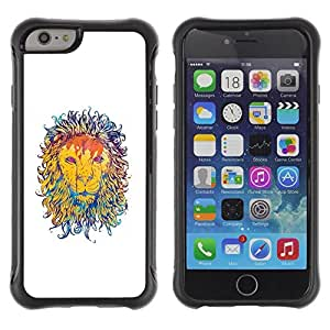 Suave TPU GEL Carcasa Funda Silicona Blando Estuche Caso de protección (para) Apple Iphone 6 PLUS 5.5 / CECELL Phone case / / Majestic Lion Painting /