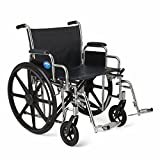 Medline Excel Extra-Wide Swing Away Foot Wheelchairs, RDLA, 22-Inch