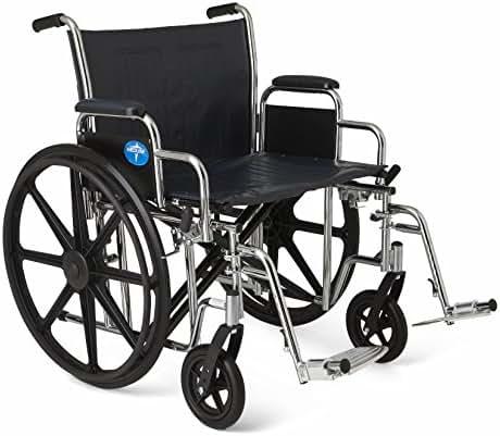 Medline Excel Extra-Wide Wheelchair, 24