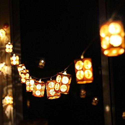 Outdoor Coloured Lantern String Lights - 3