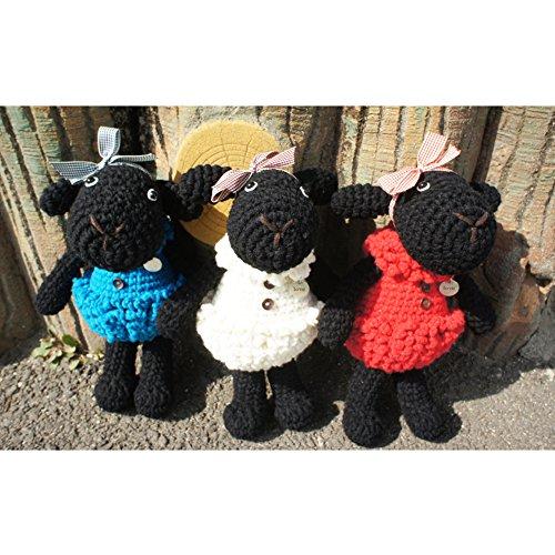 iHanco Tiny Lamb Wooly Big Knitting Doll Blue by iHanco