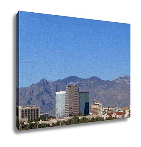 Ashley Canvas, City Skyline Tucson Az, Kitchen Bedroom Dining Living Room Art, 24x30, - Tucson Az Skyline