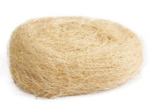 Yalulu 80g Natural Uncolored Raffia Jute Gift/Wedding Candy Packing Material Box Filler - Raffia Tan