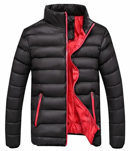 Generic Men's Light Weight Stand Collar Packable Short Down Jacket Black