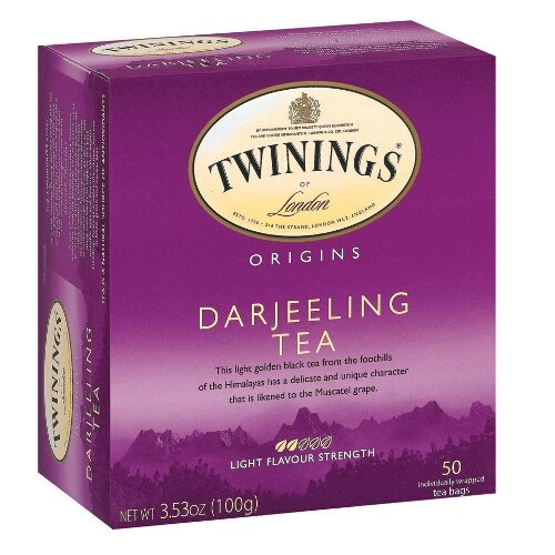 Twinings of London Darjeeling Tea Bags, 50 count box