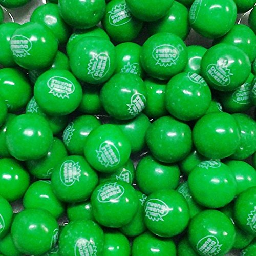 Dubble Bubble 1 Inch GREEN Gumballs, 1 Pound (55 (Goodie Gumballs)