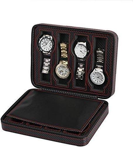 LNDDP Colección Relojes Estuche Almacenamiento Estuche Reloj Estuche exhibición joyería Cuero Organizador Estuche exhibición: Amazon.es: Deportes y aire libre
