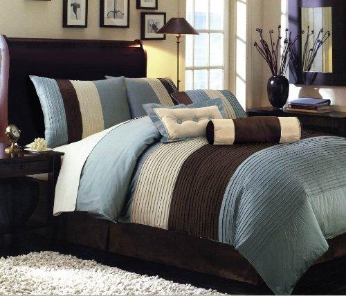 Chocolate Blue Comforters - 4