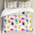 Hedda Clare Quilt setColorful Cats Duvet Cover Set1 Duvet Cover + 2 Pillow Shams