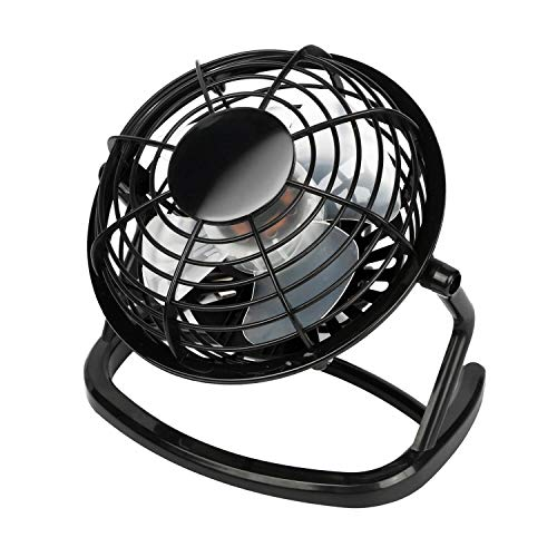 (WOODY'S HARMONY Mini USB Desk Fan Super Quiet Light Portable Cooling Air Cooler for PC Laptop Notebook Personal Computer Black)