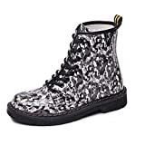 Womens Martin Boots Autumn Winter Casual Lace Up Round Toe Ankle Camouflage Booties