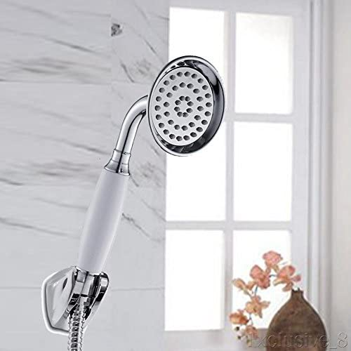 NPLE-Telephone shower Handheld Shower Head Chrome Bathroom Replacement Retro style