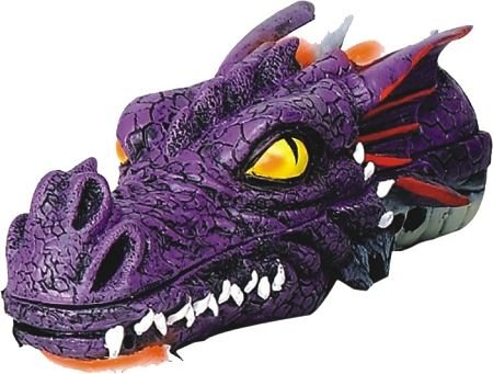 Dragon Head Stick Incense Holder Burner 11″ L (Purple)