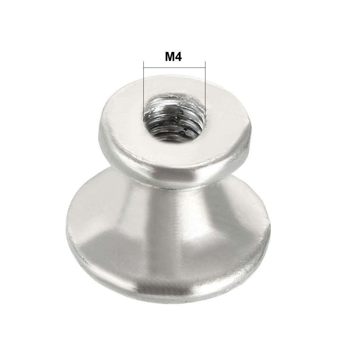 uxcell 25mmx19mm Drawer Single Hole Zinc Alloy Round Knob Pull Handle Black 2pcs a18012000ux0054