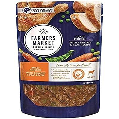 Farmers Market Natural Premium Roast Chicken, Carrots & Peas Grain Free Adult Dog Food, 5.3 Oz