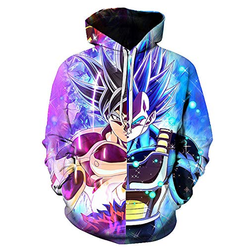 CHENMA Men Dragon Ball 3D Print Pullover Hoodie Sweatshirt with Front Pocket (Tag XXL/US XL, Color 15) ()