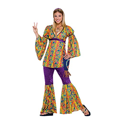 Forum Novelties Women's 60's Generation Hippie Purple Haze Flower Power Costume ()