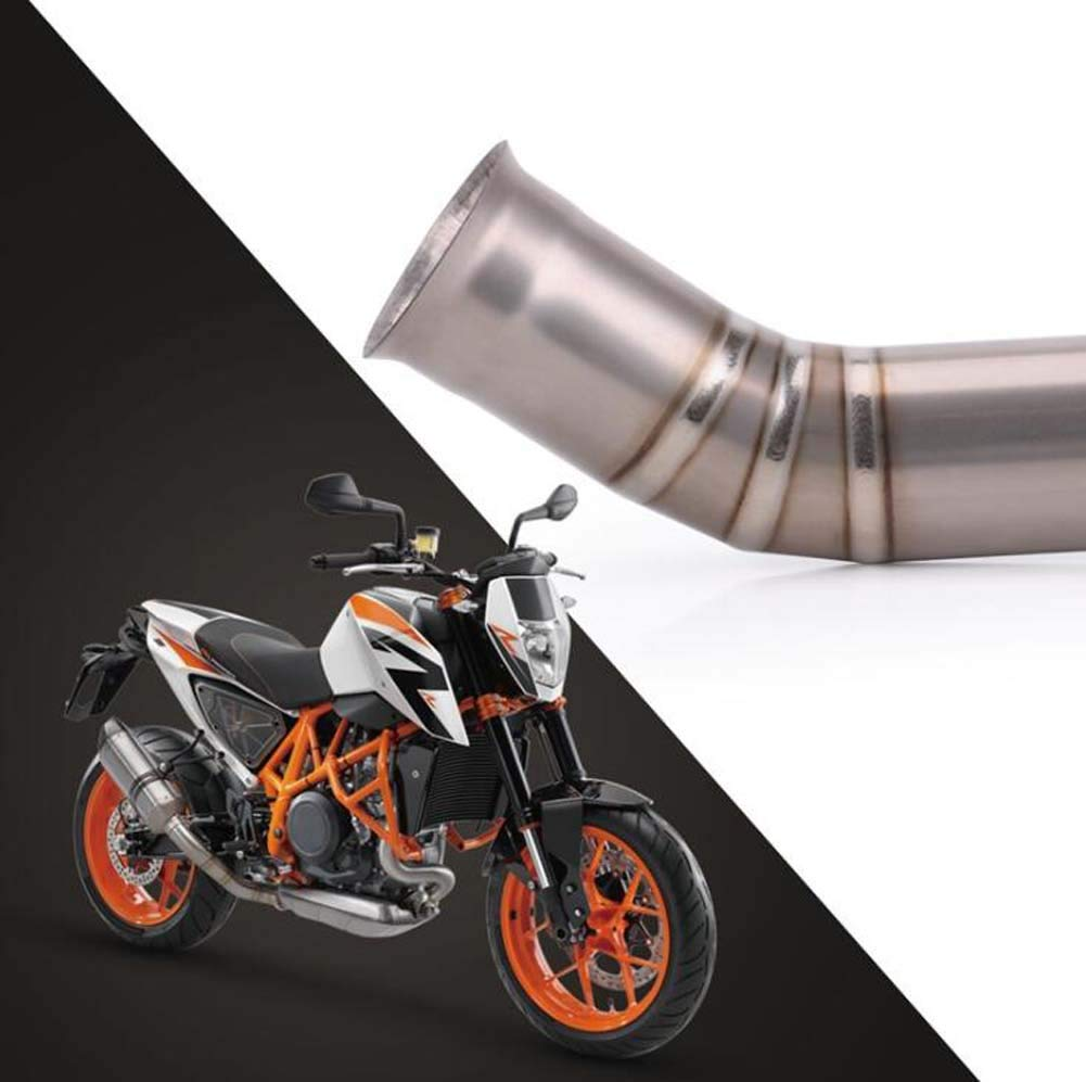 Tubo de Escape Medio de aleaci/ón de Titanio de Enlace para KTM Duke 690 2012-2019 SHIMOTOO Tubo de Escape de la Motocicleta