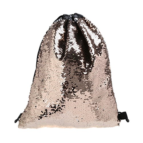 Dabixx Mochila con Cordón de Lentejuelas para Mujer, con Purpurina, Bolsa de Hombro para la Compra, Bolsas de Viaje