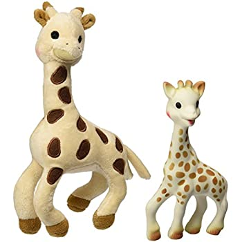 Amazon Com Vulli Sophie Giraffe Set Soft Toy And Natural Rubber