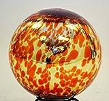 10 Inch Glass Garden Gazing Ball, Red Orange