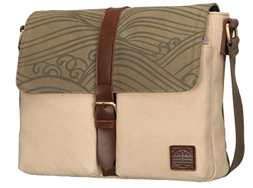 Crest Design Womens Canvas Shoulder Bag Tote Cross Body Bag