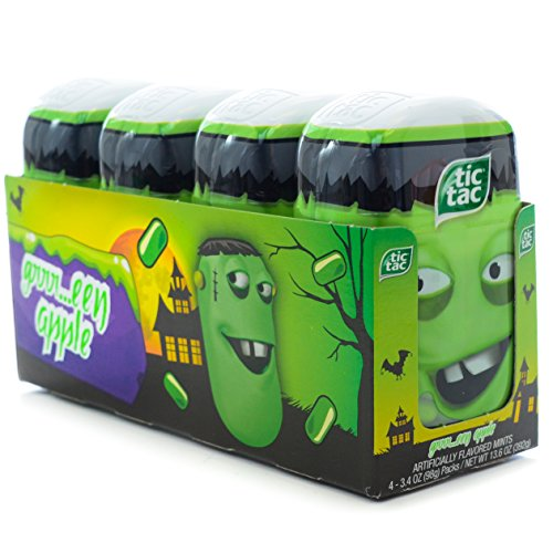 Tic Tac Bottle Pack Halloween 2015 Green Apple (Pack of 4)](Tic Tacs Jumbo Pack)