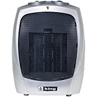 King Electric PH-2 1500-watt Portable Ceramic Heater, Silver