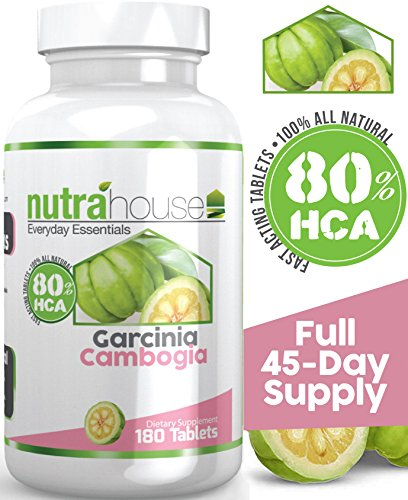 NutraHouse Vitamins Garcinia Cambogia Dietary Supplement for Weight Loss, 180 Tablets