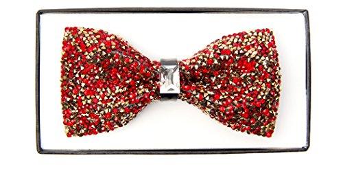 RED RHINESTONE BOW TIE - Shiny Tie