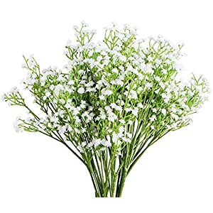 Foraineam 12-Pack Baby Breath Artificial Flowers Bouquets Real Touch Wedding Home Garden Party Decor Gypsophila Fake Plants 5