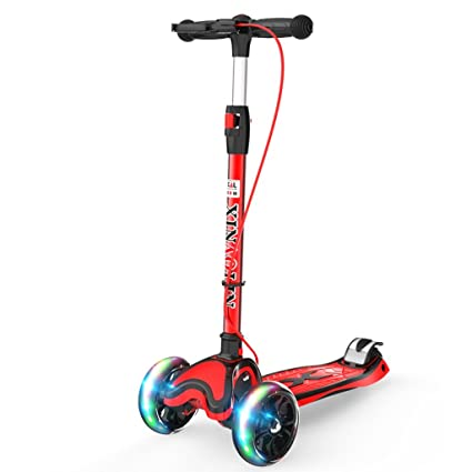 Amazon Com Scooter Children S Flash Three Wheeled Scooter 5 12