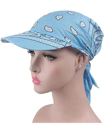 Wetour Sombrero de Bandana Unisex Sombrero de béisbol Gorros Deportivos con  Sombrero de ala Plana 4e7b8d51614