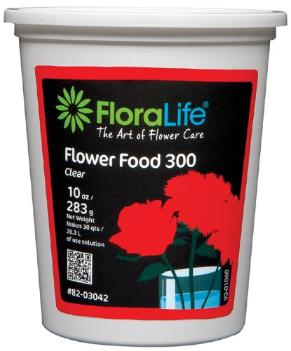 Cut Flower Food Floralife Crystal Clear 10 Ounce Powdered Tub