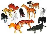 Set Of Safari Toy Animals Small Zoo Animal Figures (12)