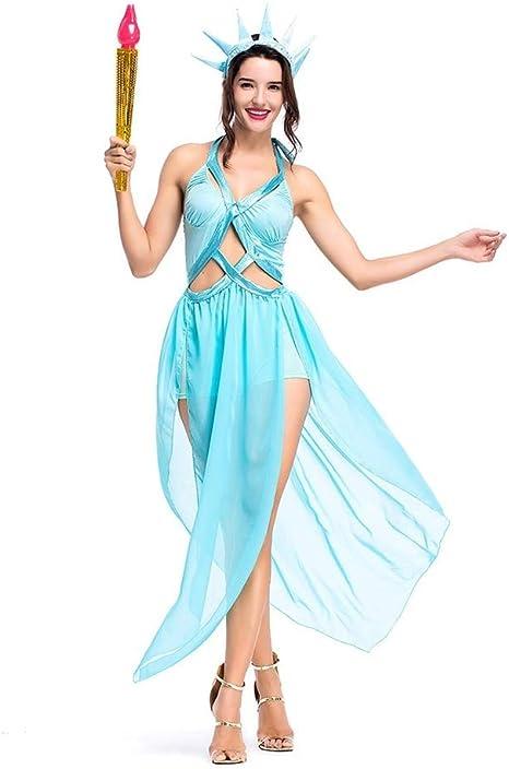 LOLANTA Disfraz de Estatua de la Libertad de la Diosa Disfraz de ...