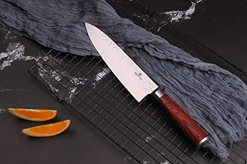 Damascus Chef Knife -Soufull 8 inch Knife Japanese VG10 Razor Sharp Well-Balanced - Stain & Corrosion Resistant Kitchen Knife - Professional Chefs Knives