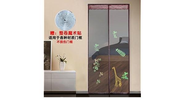J&DSSSU Cortina magnética Mascota amigable Pantalla Cortina de la Puerta del Acoplamiento para Puerta corredera de Balcón de Sala de los Niños de Estar,Auto Cierre,Manos Libres-A 90x220cm(35x87inch): Amazon.es: Hogar
