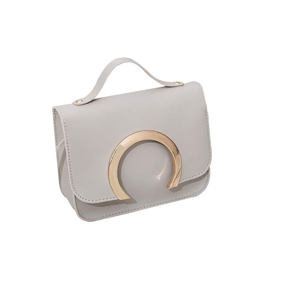 Shoulder Bag for Women Fashion Pure Color Leather Messenger Shoulder Chest Bag Series 2,Rakkiss