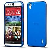 HTC Desire Eye Case, J&D [Drop Protection] Desire Eye Case [Slim Cushion] Protective Shock Absorption Jelly Slim Case for HTC Desire Eye (Blue)