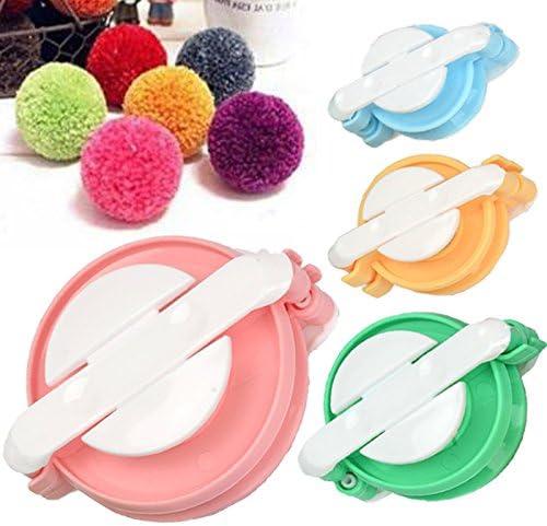 TaleeMall 4 Sizes small to large of Pom Pom Maker Set for DIY Pompom Kit Fluff