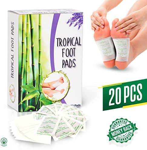 Foot Pads | Pure Bamboo Vinegar Extract | All Natural & Premium Ingredients for Best Results | Apply, Sleep & Feel Better | Improved Formula for 2019-20 PCS