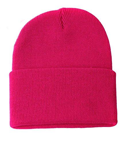 TOP HEADWEAR TopHeadwear Long Cuff Beanie, Hot Pink ()