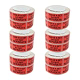 Shop4Mailers This is a Set Do Not Separate Red Labels 1'' x 2'' Rolls of 500 (12 Rolls)